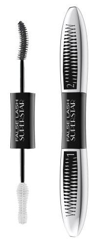 L'Oréal Paris False Lash Superstar riasenka pre efekt dvojnásobného objemu rias Black 2x6,5 ml