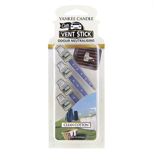 Yankee Candle Car Vent Sticks Clean Cotton kolíček do auta 4 ks