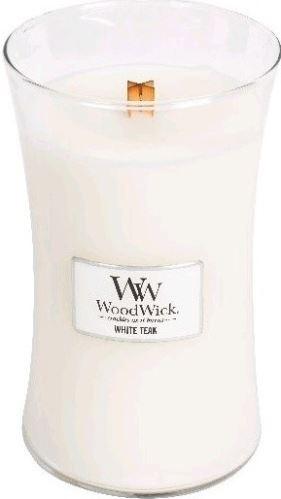 WoodWick White Teak vonná sviečka 609,5 g