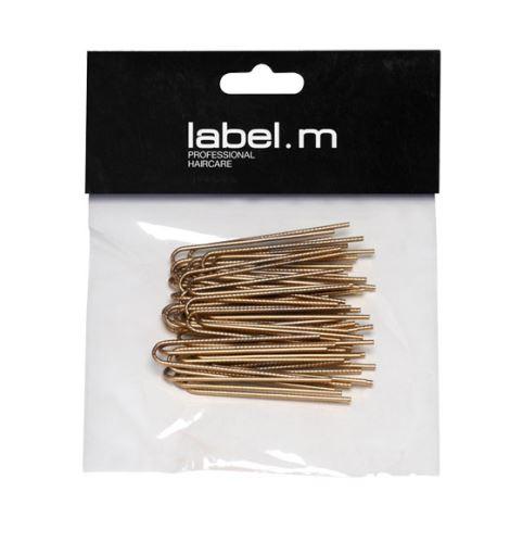 label.m Twisted U-Pin Gold 50mm (40) / Vlásenka do U vrúbkovaná zlatá 50mm 40ks