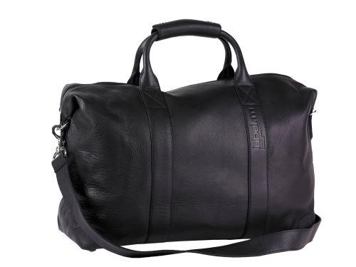 label.m Veľká čierna taška cez rameno, kožená