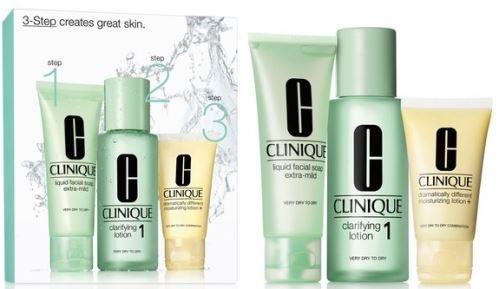Clinique Clarifying Lotion 1 100 ml + Liquid Facial Soap Extra-Mild 50 ml + Dramatically Different Moistruizing Lotion + 30 ml - sada pleťovej kozmetiky 180 ml