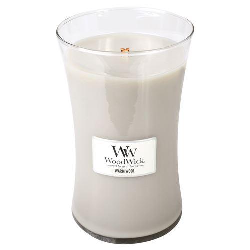 WoodWick Warm Wool vonná sviečka 609 g