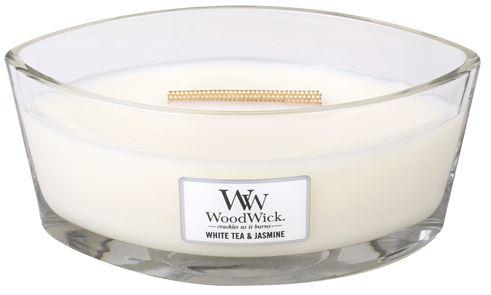 WoodWick White Tea & Jasmine vonná sviečka 453,6 g