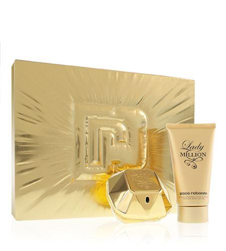 Paco Rabanne Lady Million parfumovaná voda 50 ml + telové mlieko 75 ml Pre ženy darčeková sada