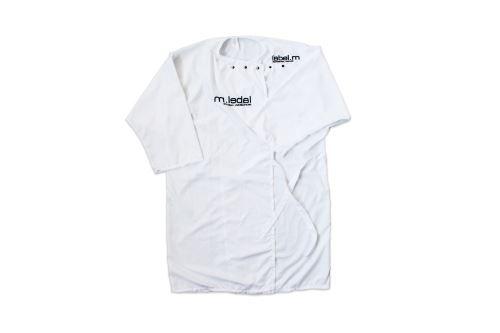 label.m Pláštenka na strihanie - biela