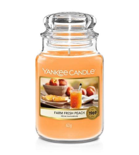 Yankee Candle Farm Fresh Peach vonná sviečka 623 g