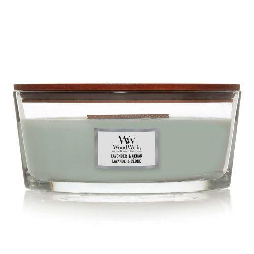 WoodWick Lavender & Cedar vonná sviečka 453 g