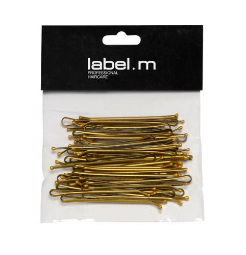 label.m Kirby Grip Straight Bronze 70mm (40) / Vlásenka uzavretá rovná bronz 70mm 40ks