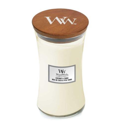Woodwick Coconut & Tonka vonná sviečka 609,5g